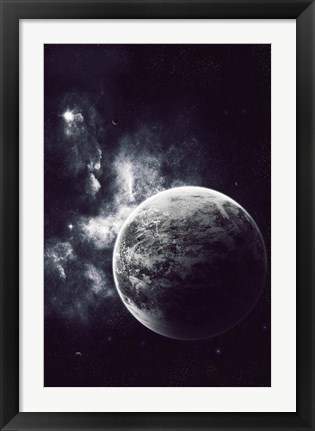 Framed Artist's Concept of a Windy Planet with a Thick Atmosphere Print