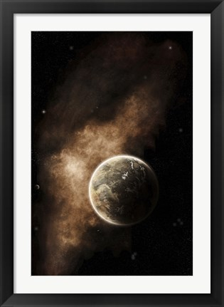 Framed Planet Full of Massive Mountain Chains and Vast Deserts Print