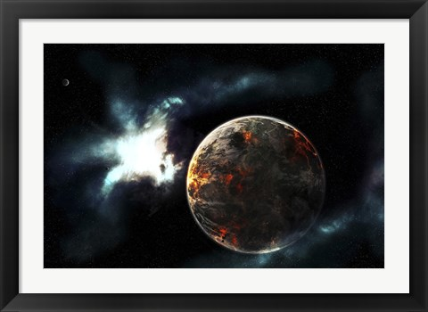 Framed Planet Harvested off it's Resources and Left for Dead on it's Own Print