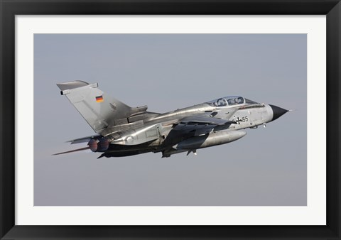 Framed German Air Force Tornado ECR taking off over Germany Print
