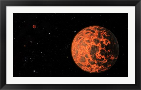 Framed Artist's Concept of an Exoplanet Known as UCF-101, Orbiting a Star called GJ 436 Print