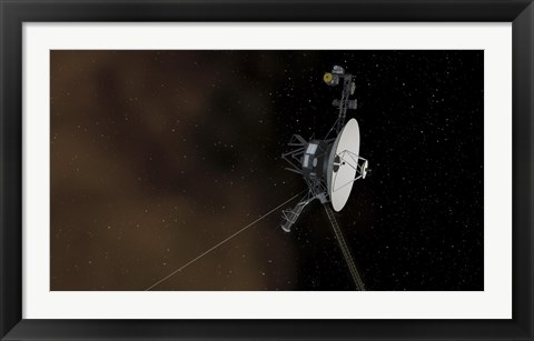 Framed Voyager 1 Spacecraft Entering Interstellar Space Print