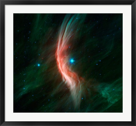 Framed Stellar Winds Flowing out From the Giant star Zeta Ophiuchi Print