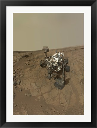 Framed Self-Portrait of Curiosity Rover on the Surface of Mars Print