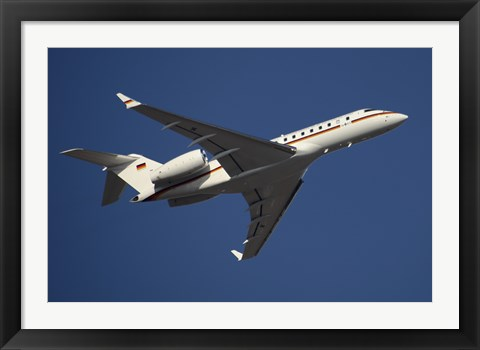 Framed Bombardier Global 5000 VIP Jet of the German Air Force Print