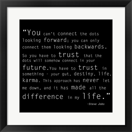 Framed Trust Quote Print