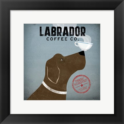 Framed Labrador Coffee Co. Print