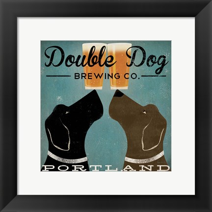 Framed Double Dog Brewing Co. Print