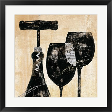 Framed Wine Selection II Print