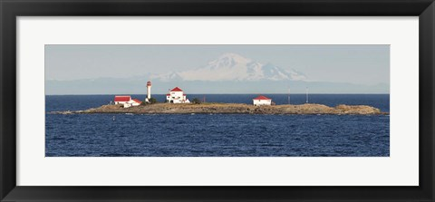 Framed British Columbia, Vancouver Island, Entrance Island, Mt Baker Print