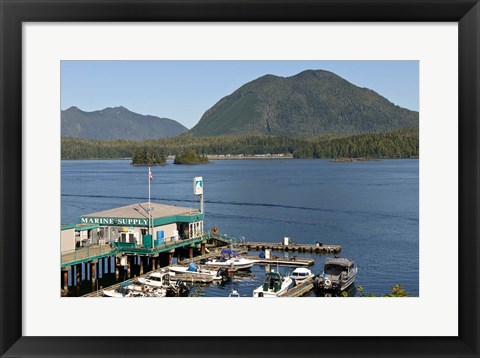 Framed Harbor, Meares Island, Vancouver Island, British Columbia Print