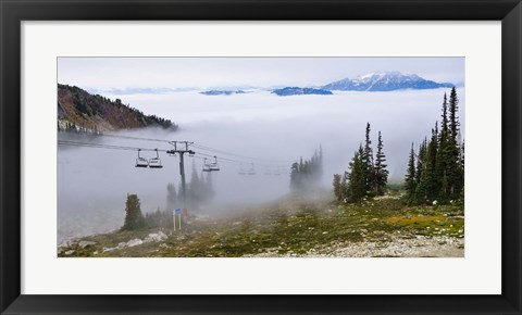 Framed British Columbia, Chairlift on Whistler Mountain Print