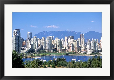 Framed Vancouver Waterfront, British Columbia, Canada Print