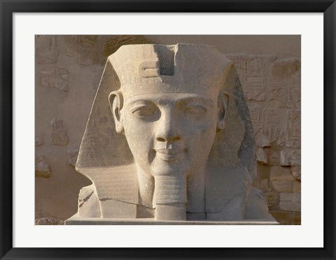 Framed Ramesses II, New Kingdom, Temple of Luxor, Egypt Print