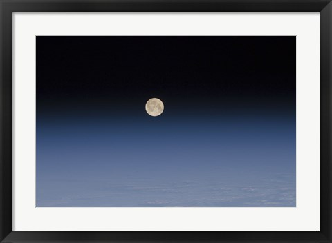 Framed Atmosphere of the Moon and Earth Print