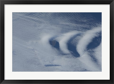 Framed Wave clouds Near Ile Aux Cochons Print