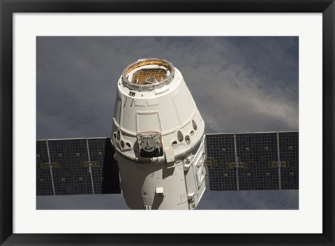 Framed SpaceX Dragon Commercial Cargo Craft Print