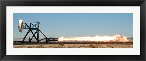 Framed Trial Run on a Rocket Sled test Rixture Powered by Rockets Print