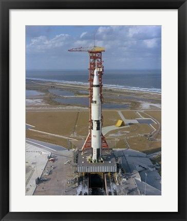 Framed High Angle View of the Apollo 4 Spacecraft on the Launch Pad Print
