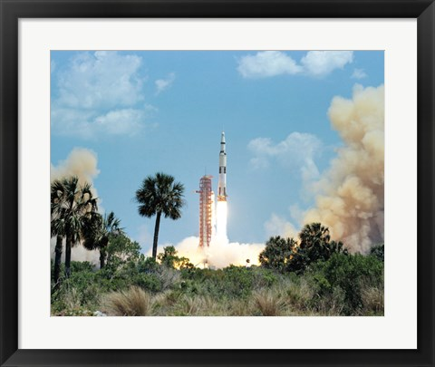 Framed Apollo 16 Space Vehicle is Launched from Kennedy Space Center Print
