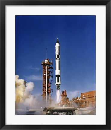 Framed Gemini 12 Astronauts Lift off Aboard a Titan Launch Vehicle Print