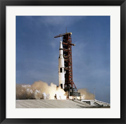 Framed Apollo 11 Space Vehicle Taking off from Kennedy Space Center Print
