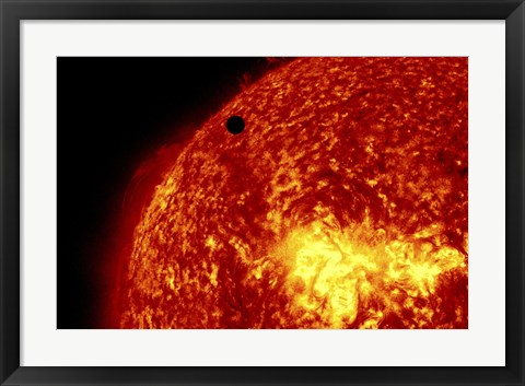 Framed 2012 Transit of Venus and the Sun Print