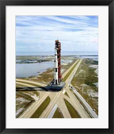 Framed High Angle View  of the Apollo 14 Space Vehicle Print