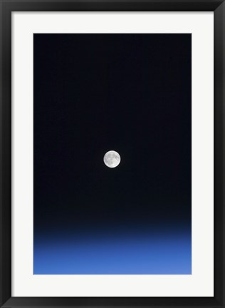 Framed Moon and Earth's Atmosphere Print