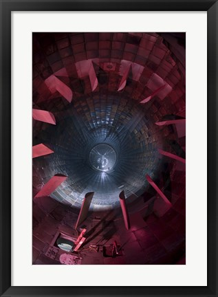 Framed Inside the Diffuser Section of a 16-foot Supersonic Wind Tunnel Print