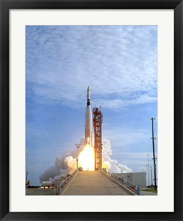 Framed Atlas Agena Target Vehicle Liftoff for Gemini 11, Cape Canaveral, Florida Print