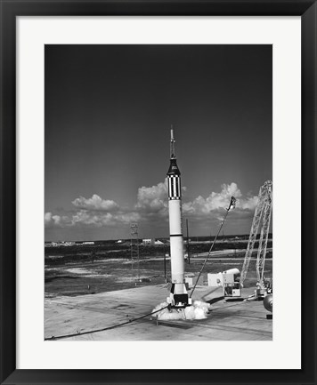 Framed Launching of the Mercury-Redstone 3 Rocket from Cape Canaveral, Florida Print