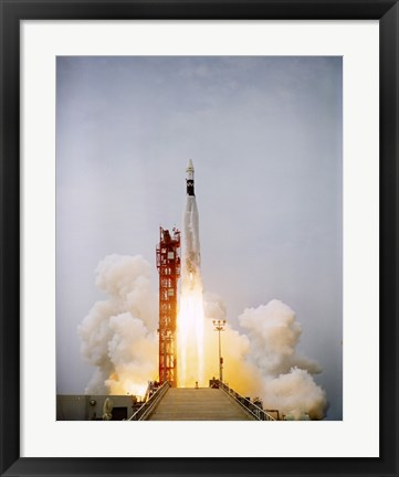 Framed Augmented Target Docking Adapter atop an Atlas Launch Print