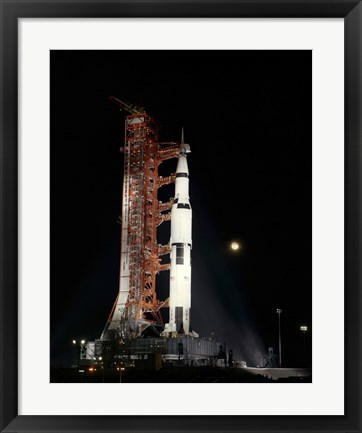 Framed Nighttime View of the Apollo 12 Space Vehicle Print