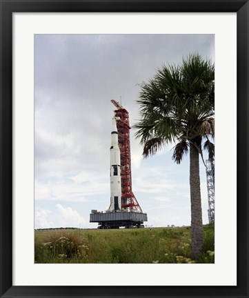 Framed Apollo 4 and its Mobile Launch Tower Print