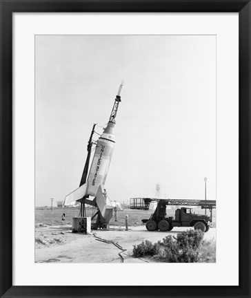 Framed Little Joe on Launcher at Wallops Island Print
