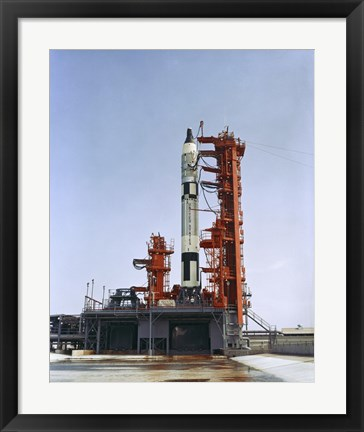 Framed Gemini 5 Spacecraft on its Launch Pad Print