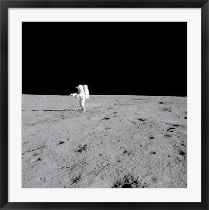 Framed Apollo 14 Astronaut Makes Pan with the Lunar Surface Television Camera Print