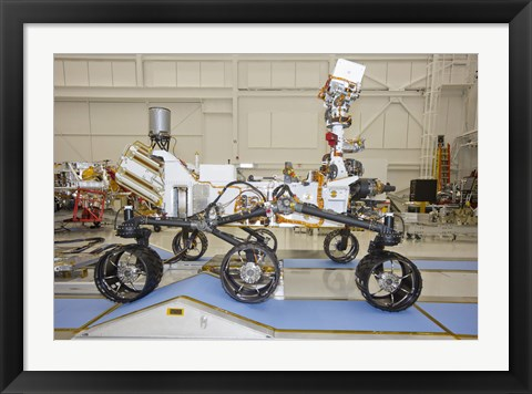Framed Curiosity Rover in the Testing Facility Print