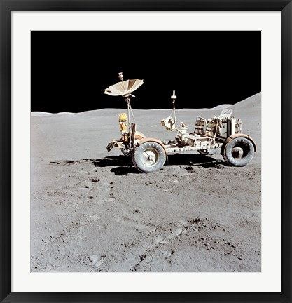 Framed Apollo 15 Lunar Roving Vehicle on the Moon Print