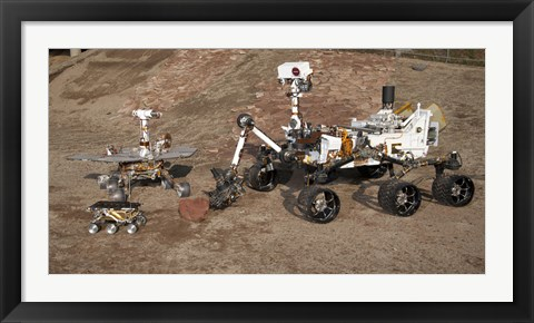 Framed Third Generations of Mars Rovers Print