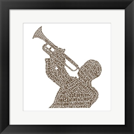 Framed Trumpet Player (Greatest Jazz Tunes) Print