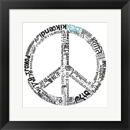 Framed Peace (Different Languages) Print