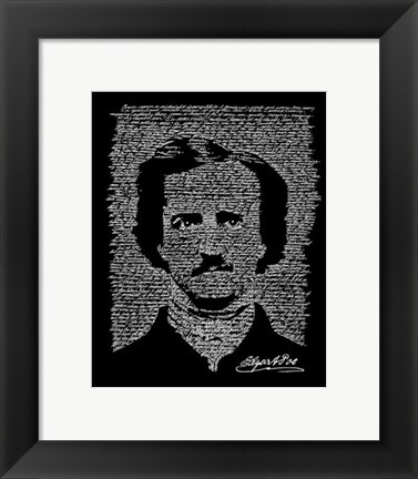 Framed Edgar Allen Poe (The Raven) Print