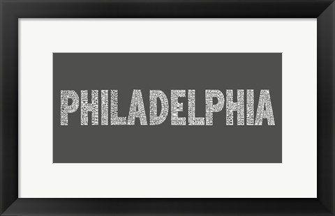 Framed Philadelphia Neighborhoods Print