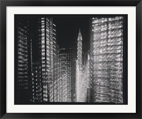 Framed Chrysler Building Motion Landscape #4 Print