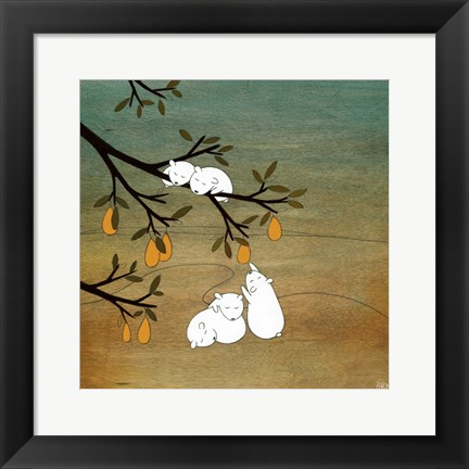 Framed Sugar Plum Tree Print