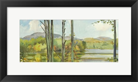 Framed Lake Study (left) Print