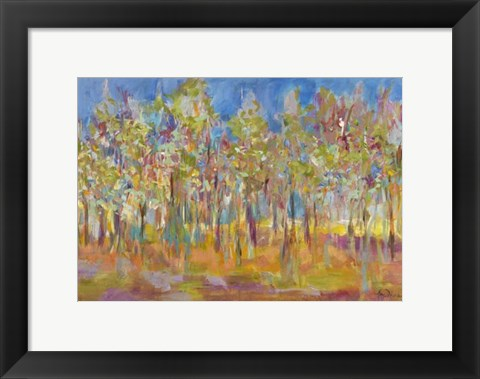Framed Orchard in Orchid Print