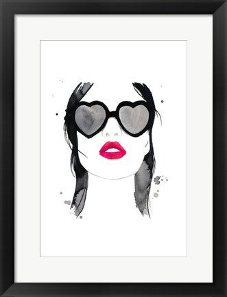 Framed Kiss 'em and Hide Print